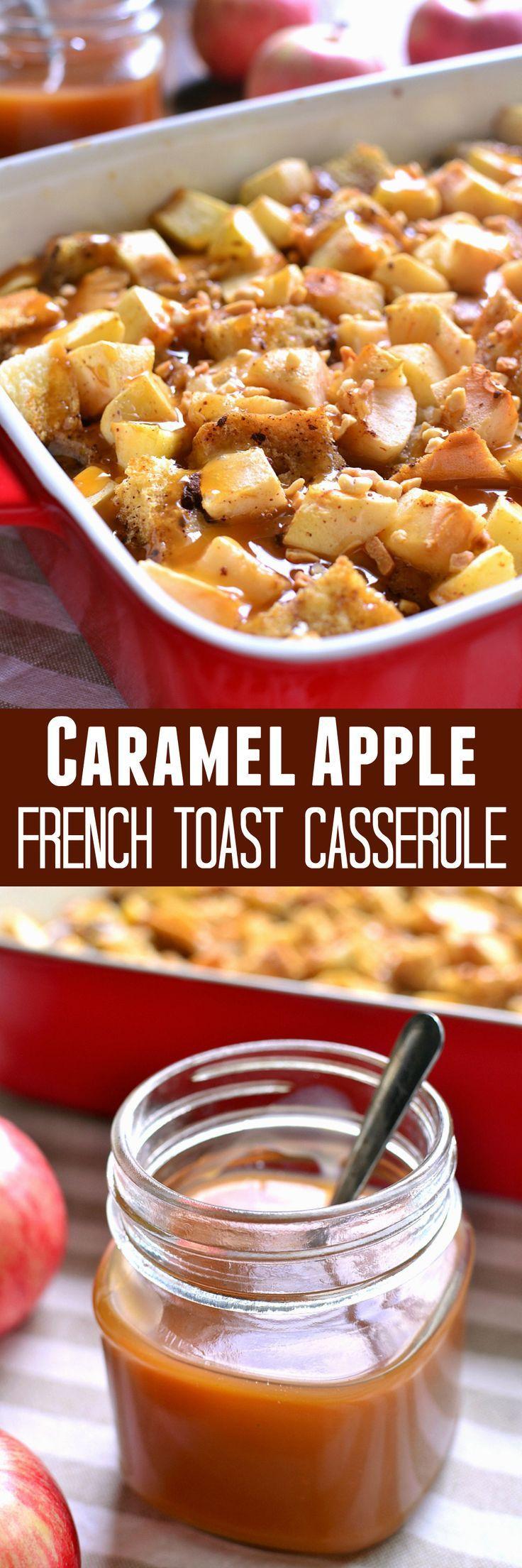 Fall Breakfast Recipe  Caramel Apple French Toast Casserole Recipe