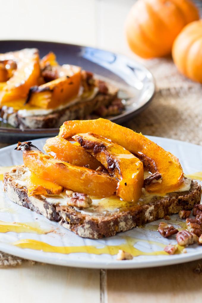 Fall Breakfast Recipes  Roasted Pumpkin on Toast a delicious autumn breakfast