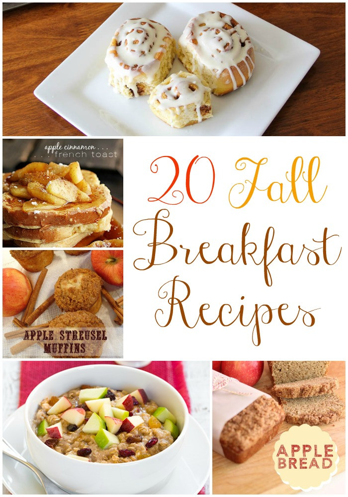 Fall Breakfast Recipes  20 Fall Breakfast Recipes