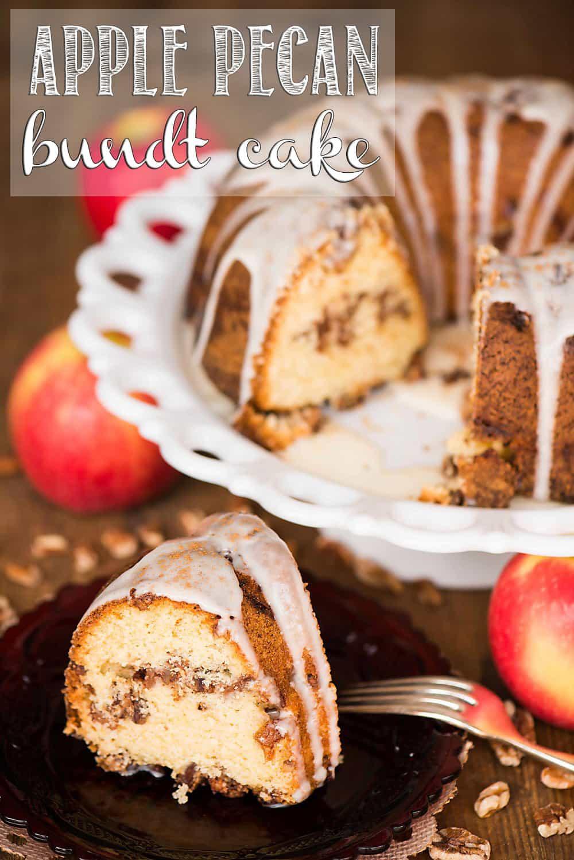 Fall Bundt Cake Recipes  Apple Pecan Bundt Cake
