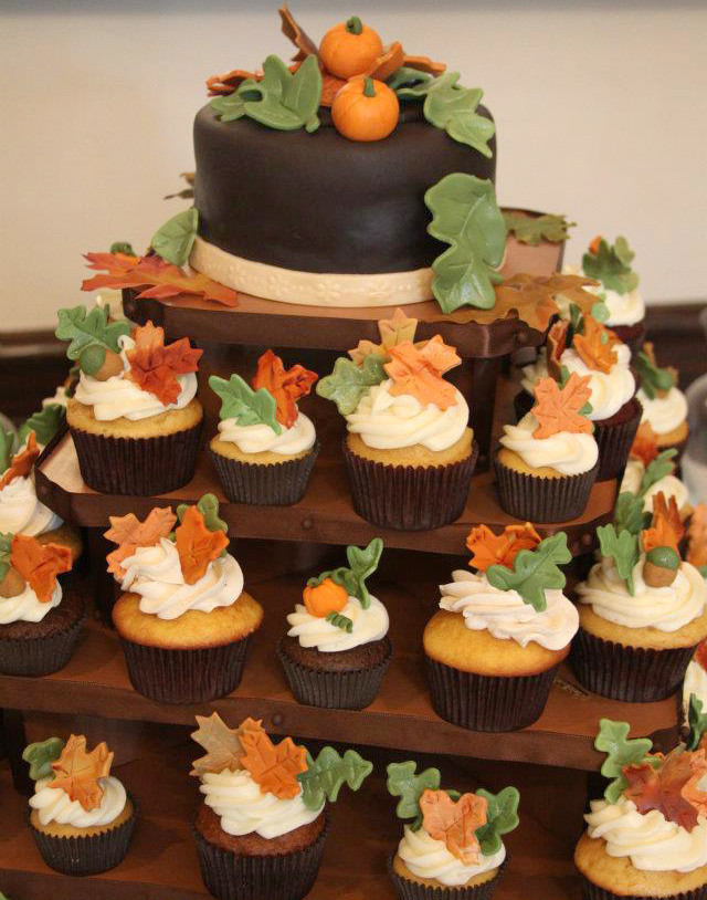 Fall Cupcakes Ideas  Autumn Fall Theme Wedding & Shower Ideas
