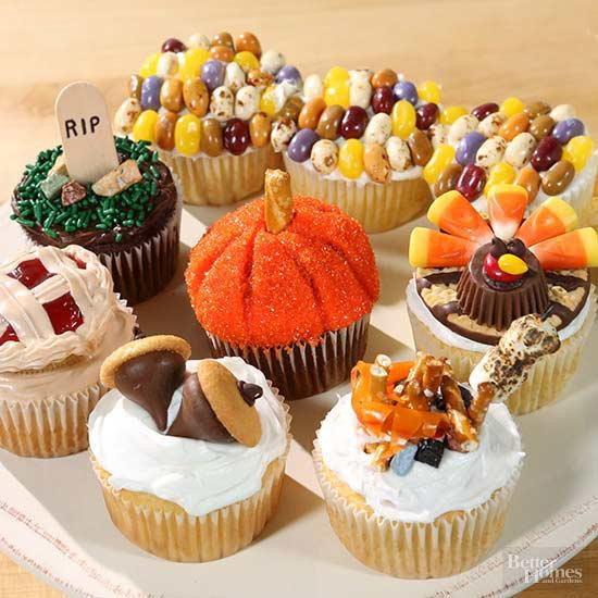 Fall Cupcakes Ideas  Halloween Cake Decorating Ideas from Better Homes