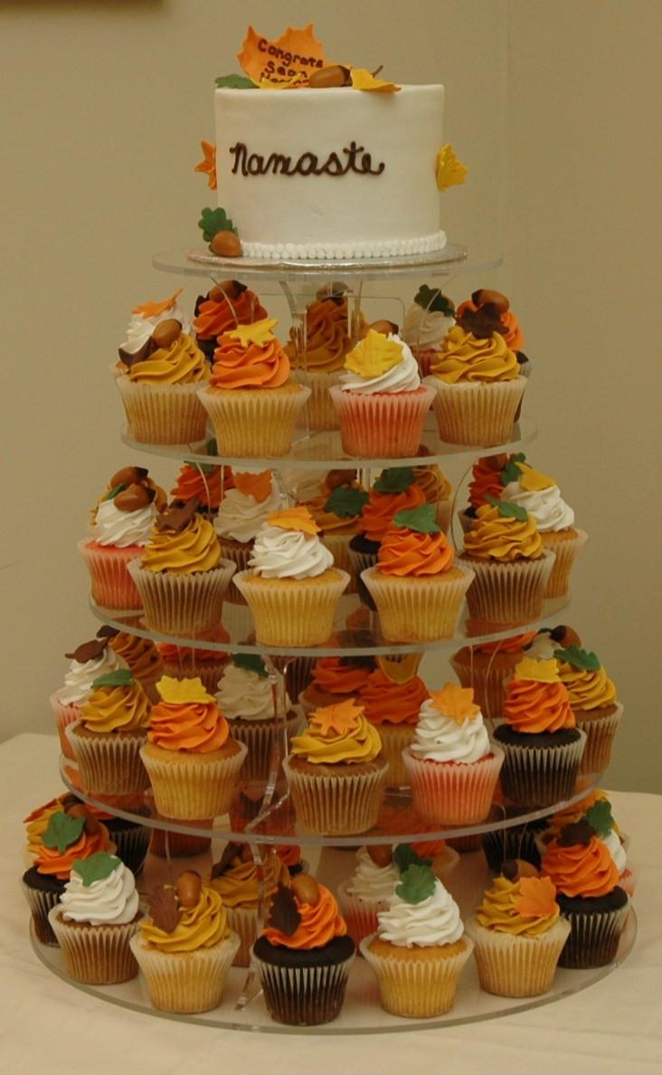 Fall Cupcakes Ideas  Fall Wedding Cake Cupcakes Cake Theme Cupcakes Wedding