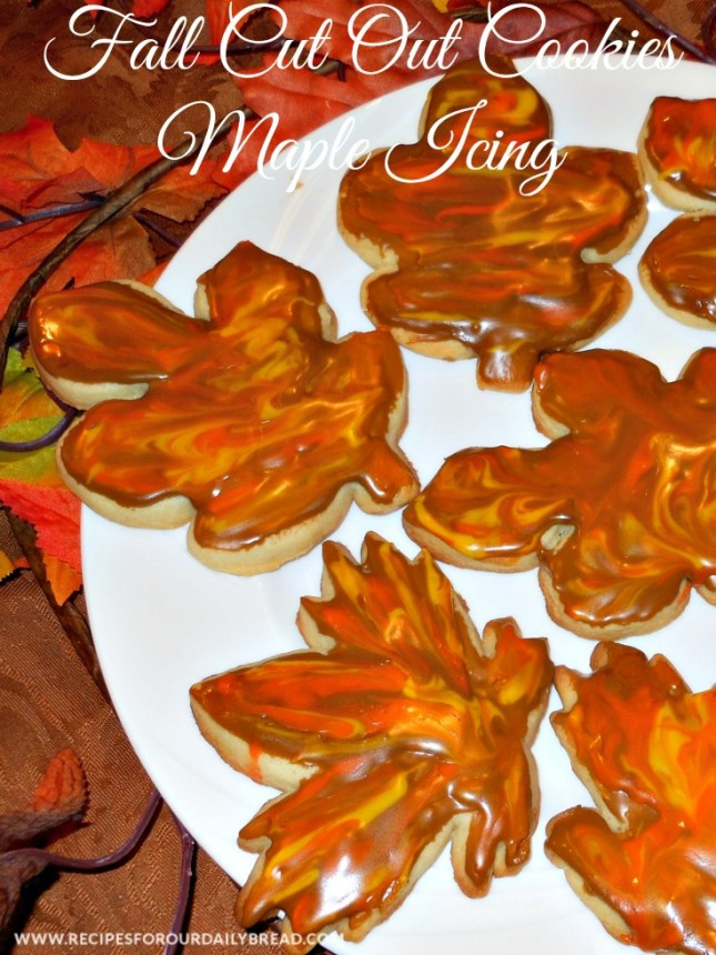 Fall Cut Out Cookies  CELEBRATE FALL THESE FALL CUT OUT COOKIES MAPLE ICING