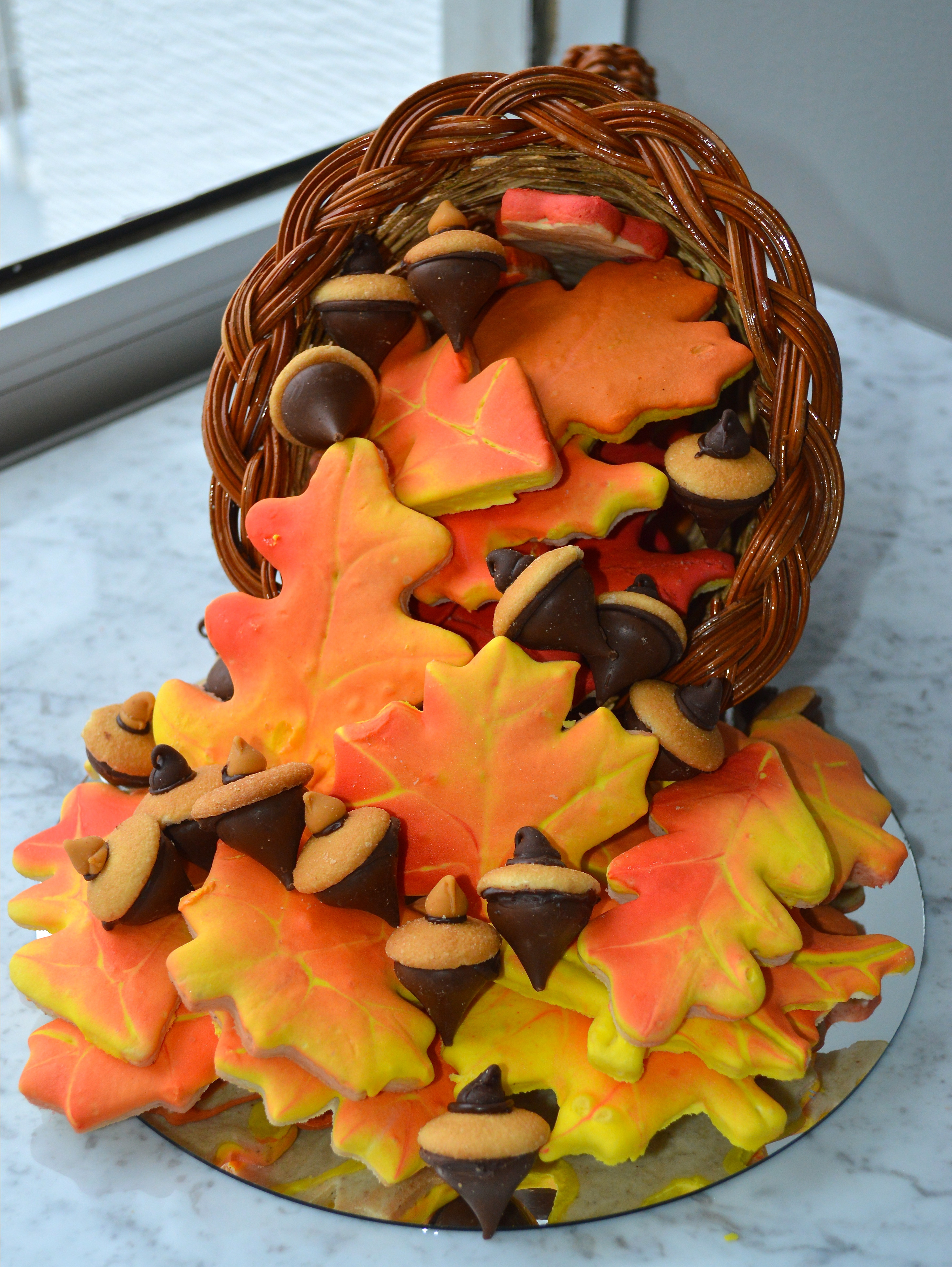Fall Cut Out Cookies  How to Make Realistic Autumn Leaf Cookies Celebrate