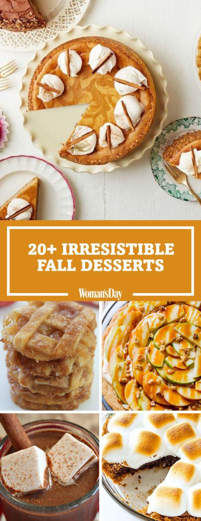 Fall Dessert Ideas  31 Easy Fall Desserts Best Recipes for Autumn Desserts