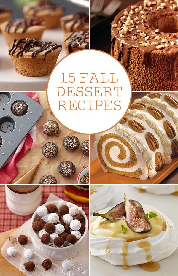 Fall Dessert Ideas  15 Fall Dessert Recipes