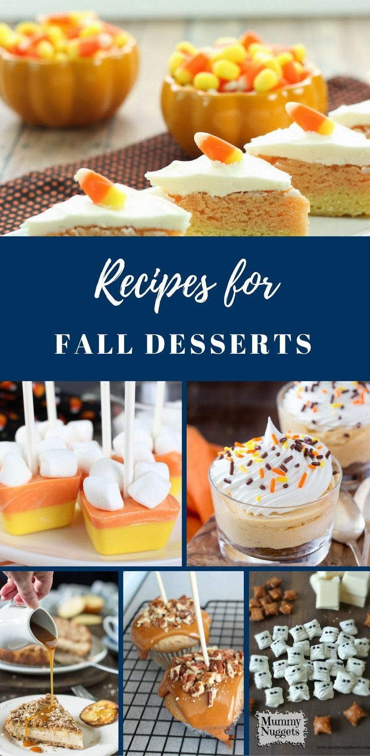 Fall Dessert Recipes  Recipes for Fall Desserts Link Party Happy Family Blog