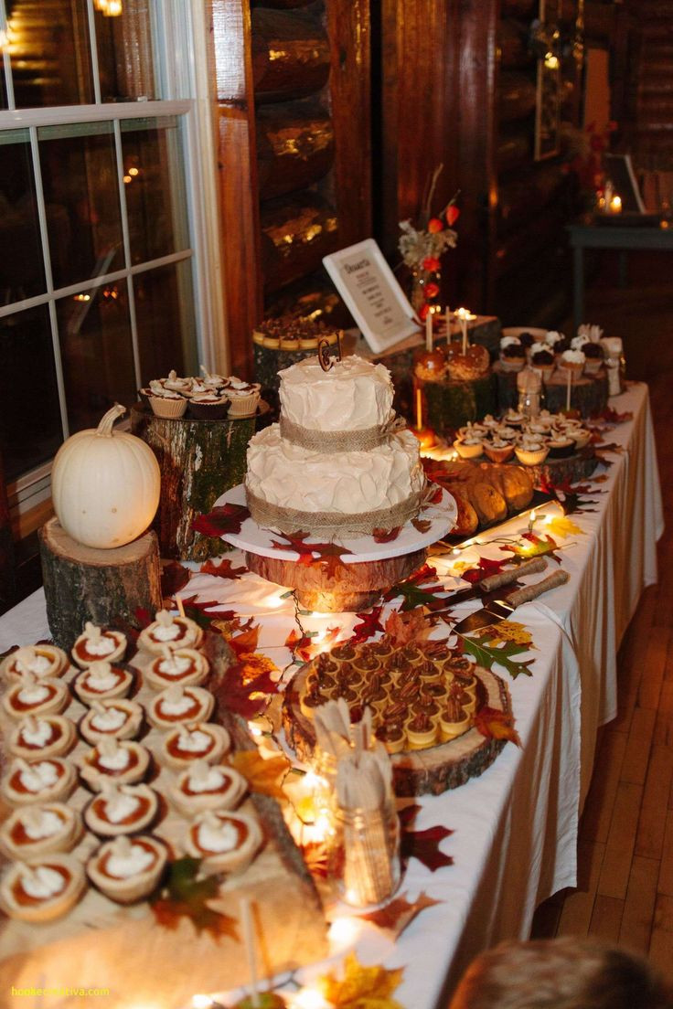 Fall Desserts 2019  Beautiful Fall Wedding Reception Food Ideas