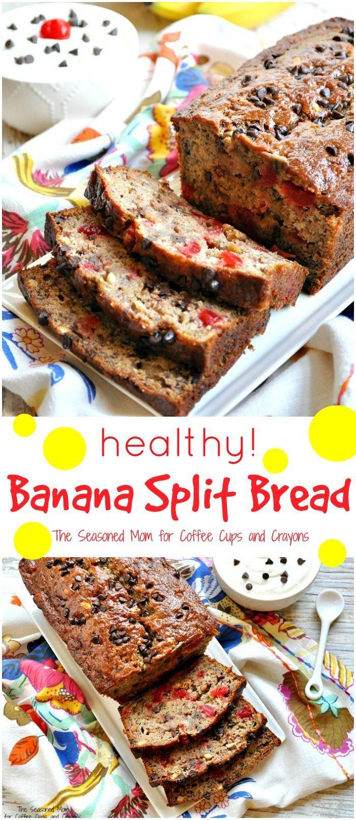 Fall Desserts 2019  healthy banana split bread BestHealthy