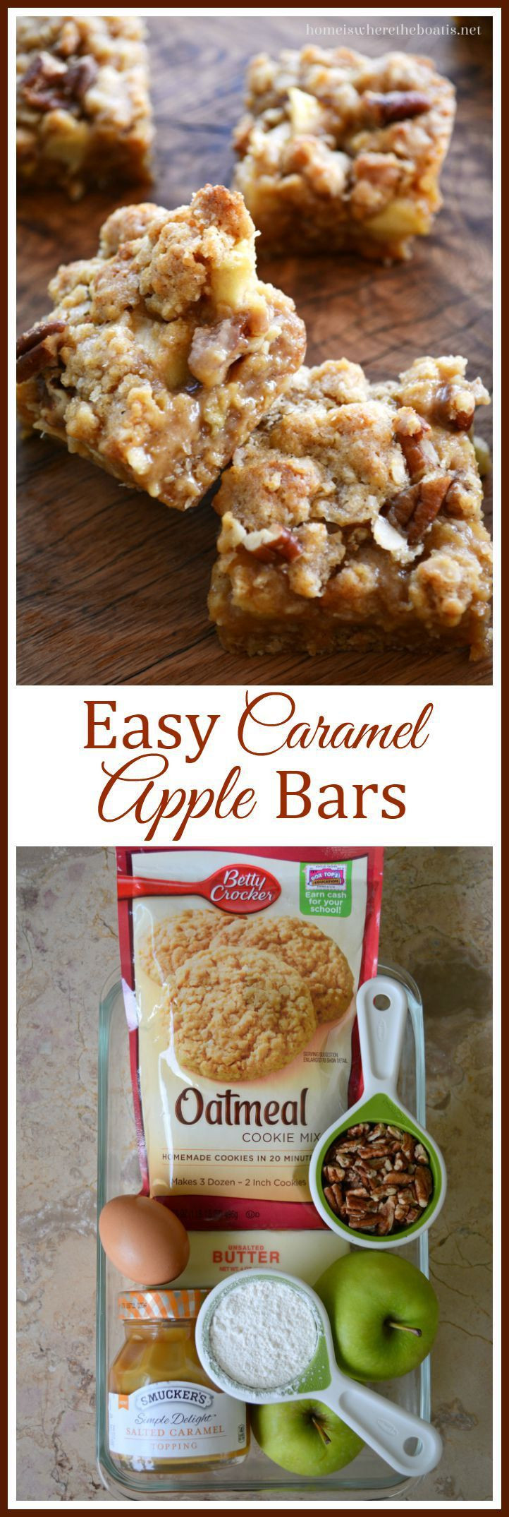 Fall Desserts For A Crowd  Easy Caramel Apple Bars An easy and crowd pleasing recipe