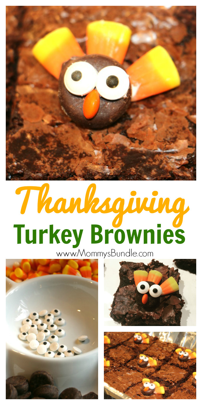 Fall Desserts For Kids  Turkey Brownies Adorably Easy Thanksgiving Dessert
