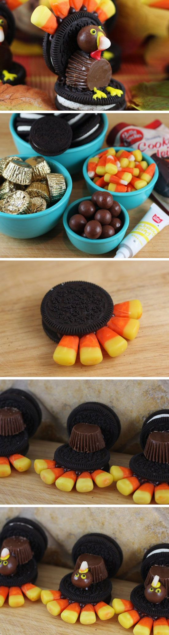 Fall Desserts For Kids  Oreo Turkeys