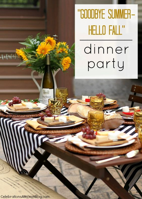 Fall Dinner Party Ideas  1000 ideas about Themed Dinner Parties on Pinterest