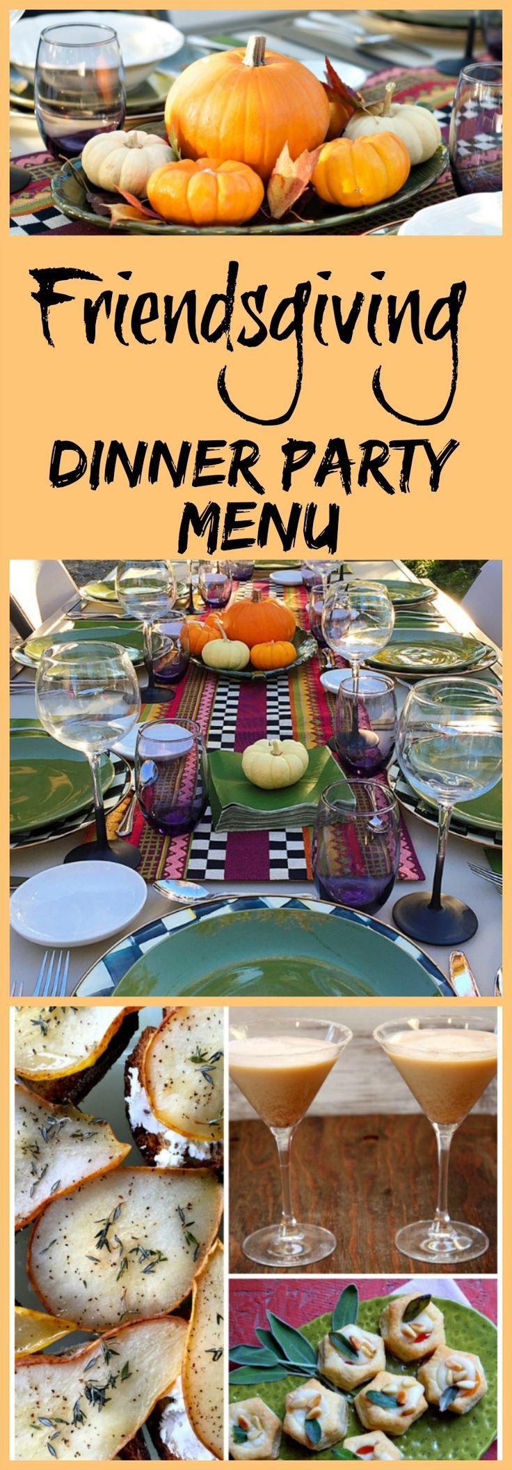 Fall Dinner Party Menu  How to Host a Friendsgiving Dinner Party Recipes decor