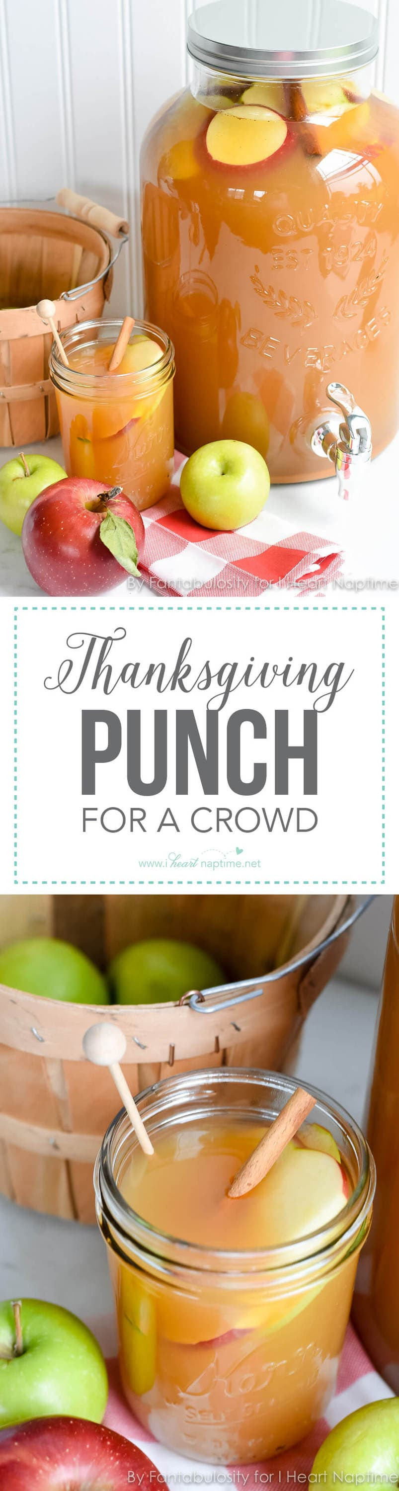Fall Dinners For A Crowd  Thanksgiving Punch for a Crowd 3 ingre nts I Heart