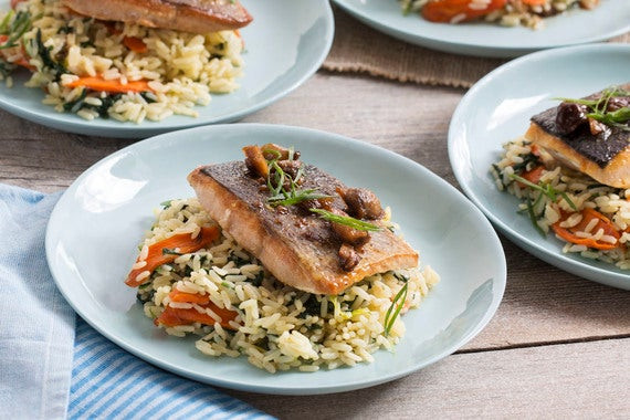 Fall Fish Recipes  Recipe Seared Salmon & Chestnut Butter Sauce with Carrots