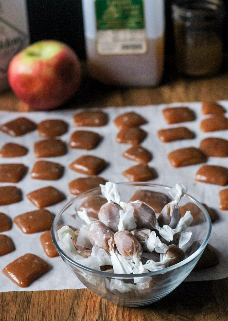 Fall Flavors For Desserts  Apple Cider Caramels