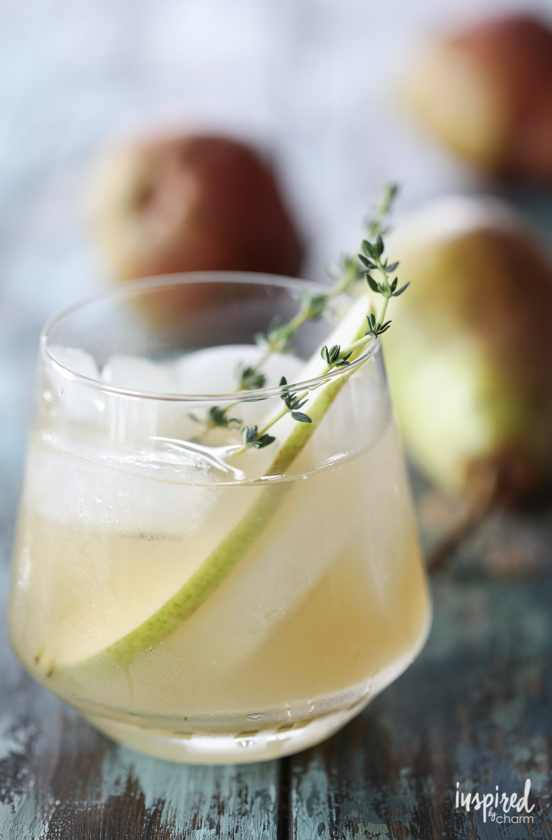 Fall Gin Drinks  Spiced Pear Gin Cocktail
