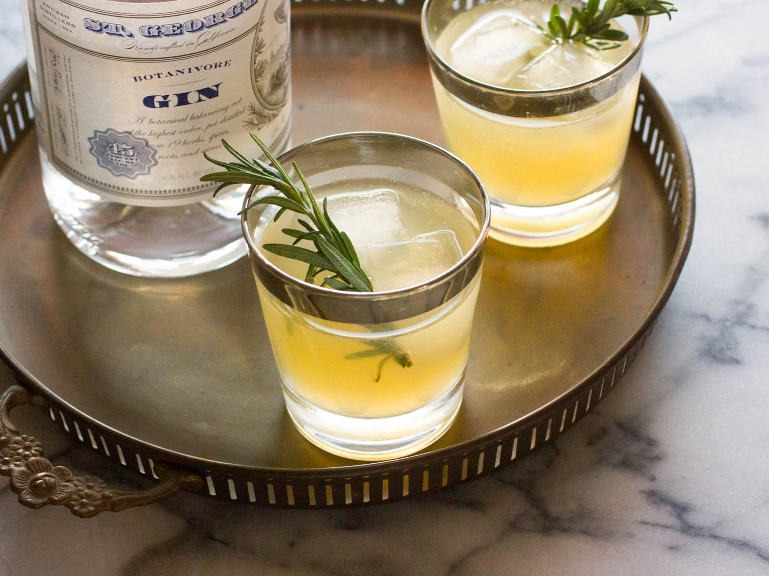 Fall Gin Drinks  Charred Lemon Gin Sparkler Recipe