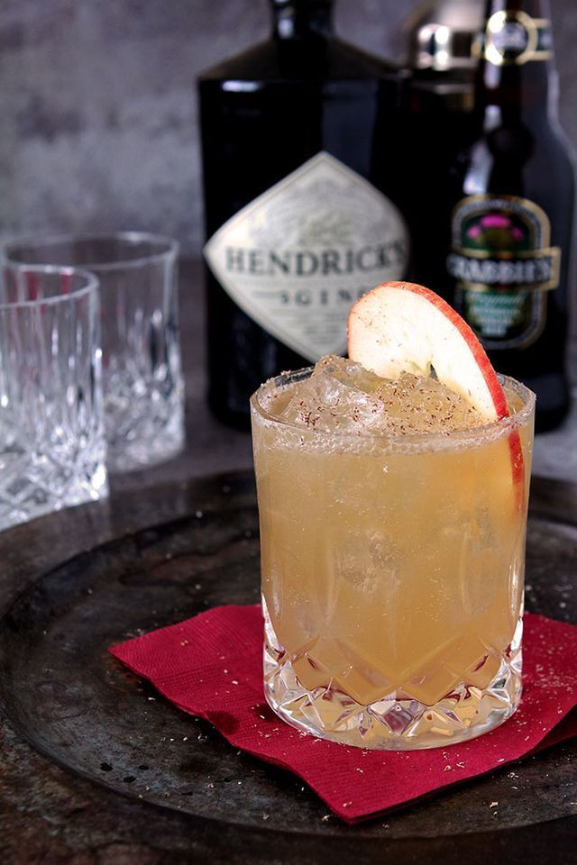 Fall Gin Drinks  Fall All Over cocktail Hendricks gin cider lemon juice