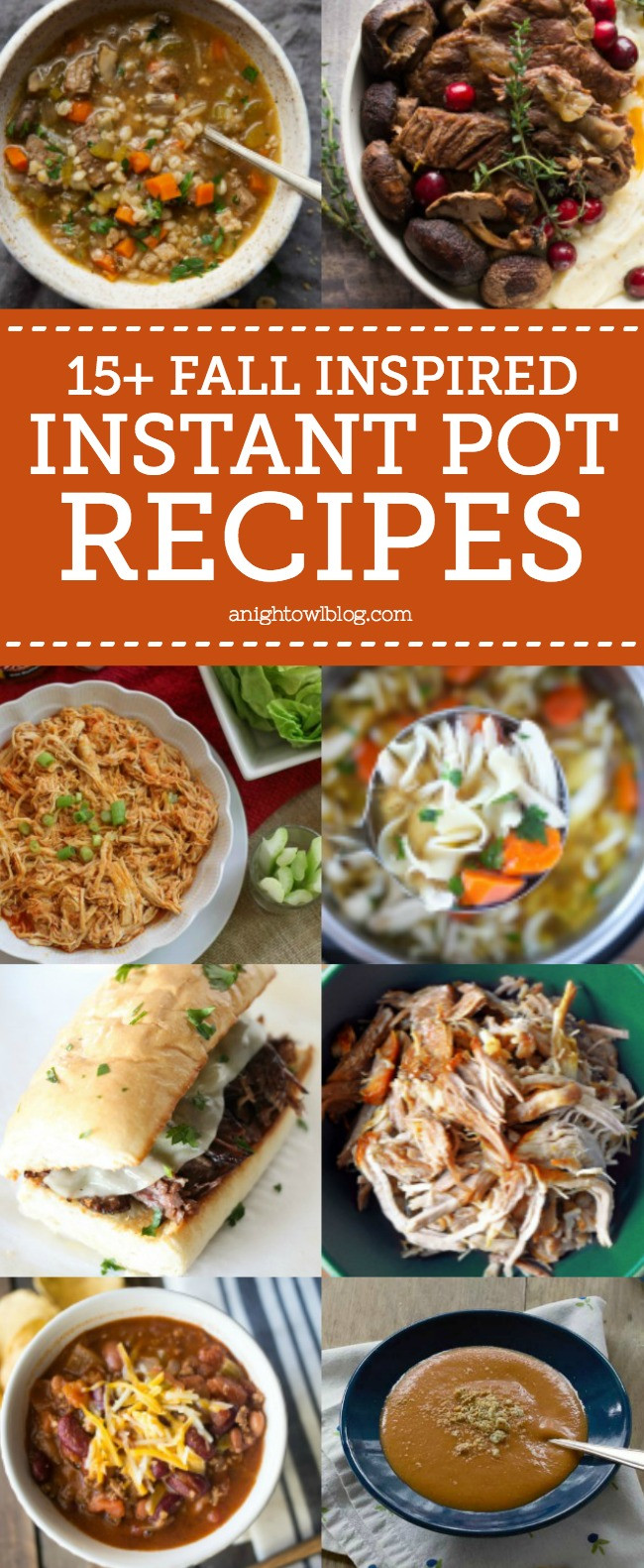 Fall Instant Pot Recipes  15 Fall Inspired Instant Pot Recipes