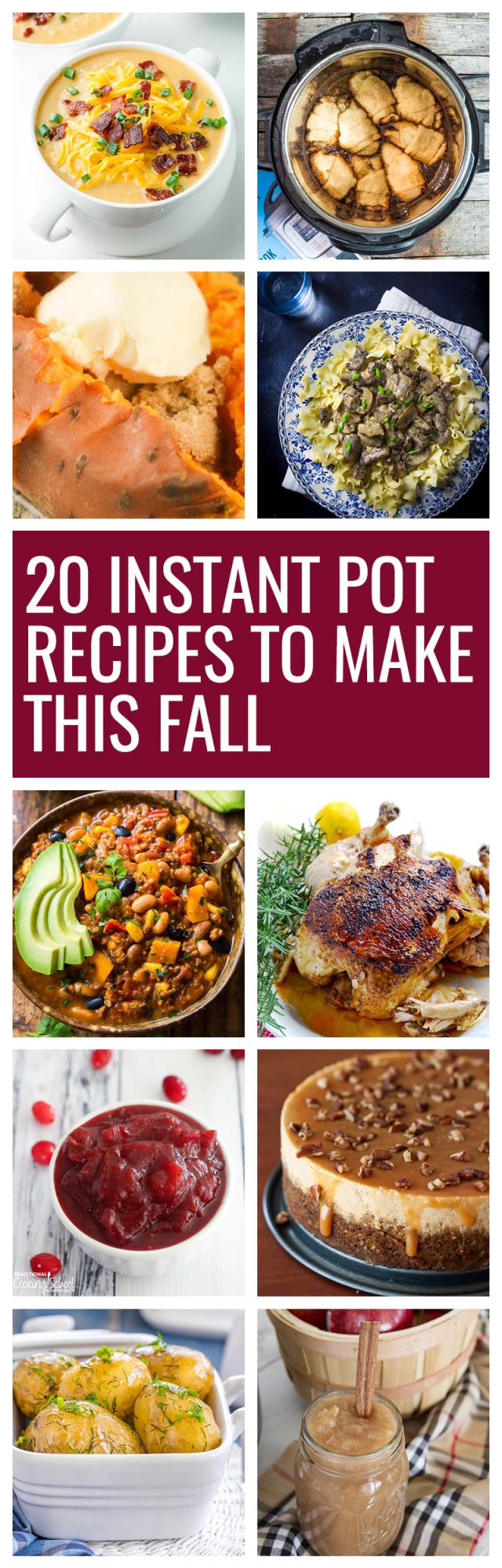 Fall Instant Pot Recipes  20 Fall Instant Pot Recipes