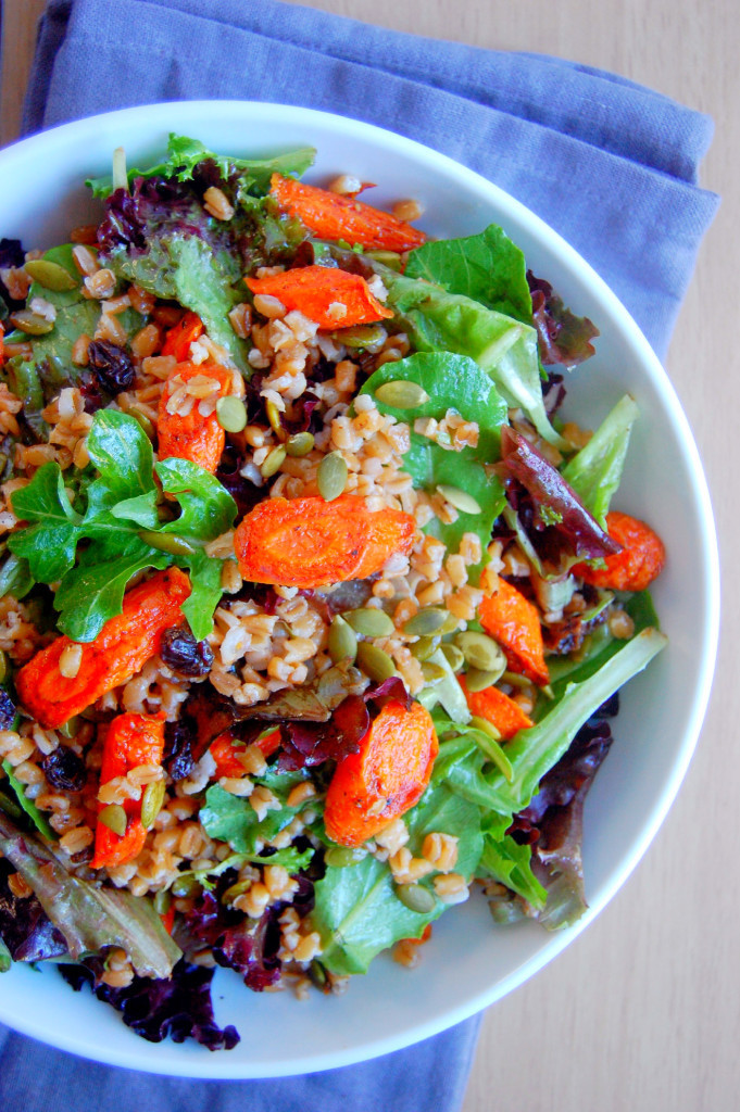 Fall Main Dishes  Cinnamon Roasted Carrot and Farro Salad