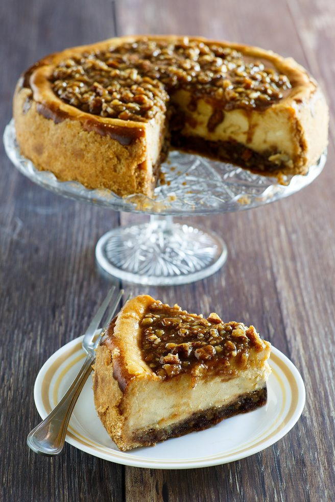 Fall Party Desserts  Pecan Pie Cheesecake Thanksgiving and Christmas Dessert