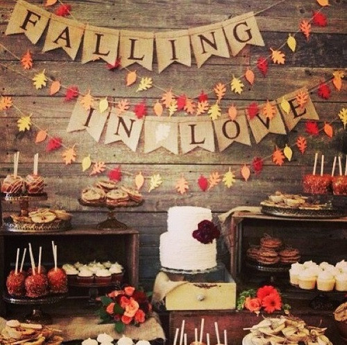 Fall Party Desserts  Delicious Fall Wedding Menus Everyone Will Love