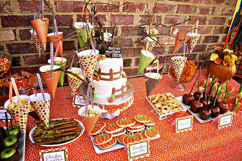Fall Party Desserts  Kara s Party Ideas Pumpkin Patch 1st Birthday Party