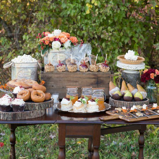 Fall Party Desserts  726 best DESSERT TABLES images on Pinterest