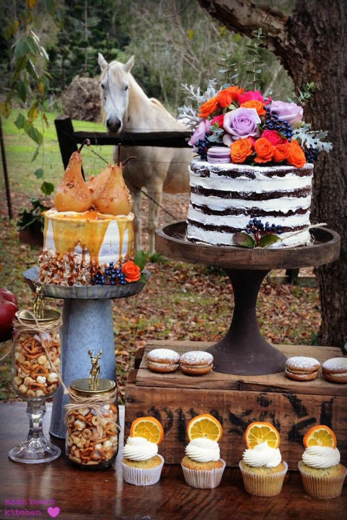 Fall Party Desserts  Kara s Party Ideas Fall Dessert Table