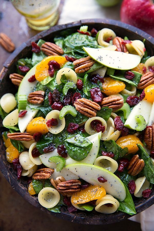 Fall Pasta Salad  Autumn Crunch Pasta Salad