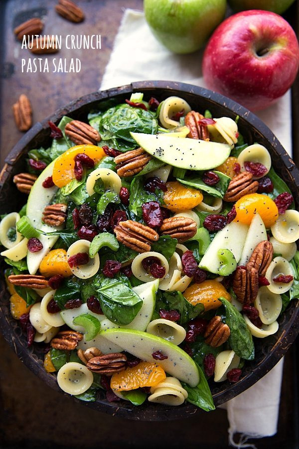 Fall Pasta Salad  Autumn Crunch Pasta Salad Chelsea s Messy Apron