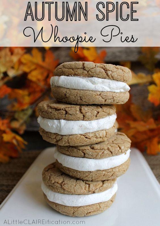 Fall Pie Recipes  Autumn Spice Whoopie Pies Recipe Pinterest