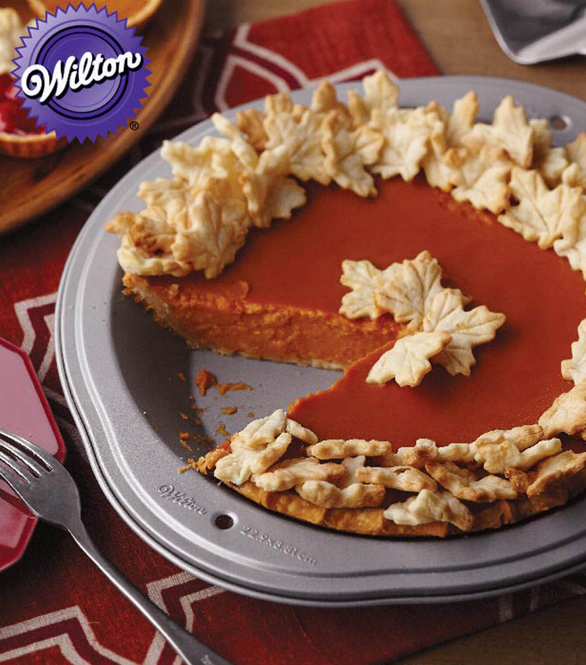 Fall Pie Recipes  Pumpkin Pie with Fall Leaves Pastry Cutouts JoAnn