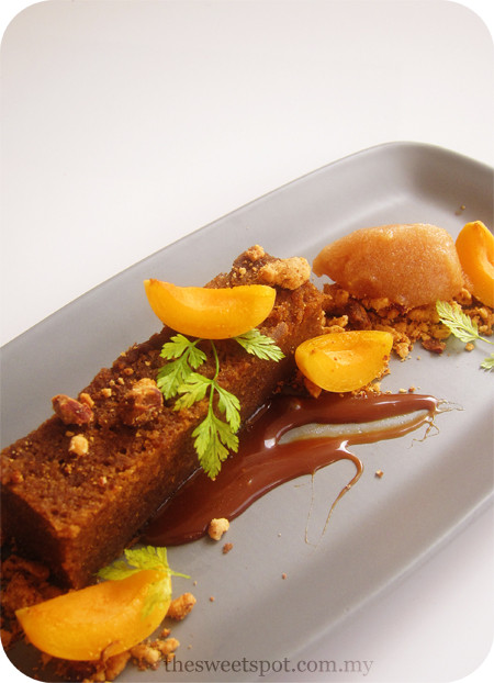 Fall Plated Desserts  Autumn a melody of pear ginger and apricots – The Sweet Spot