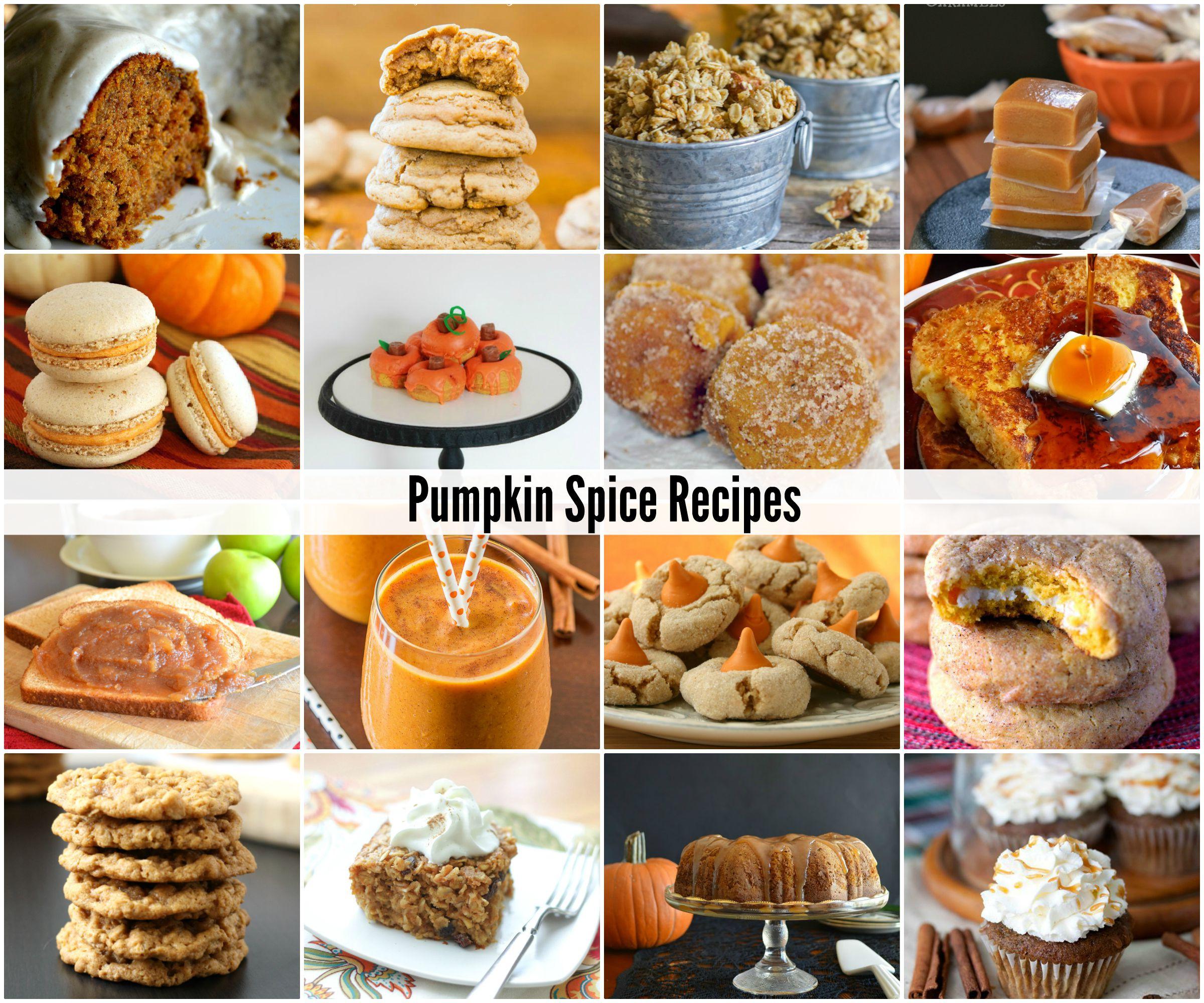 Fall Pumpkin Recipes  Pumpkin Spice Recipes The Idea Room