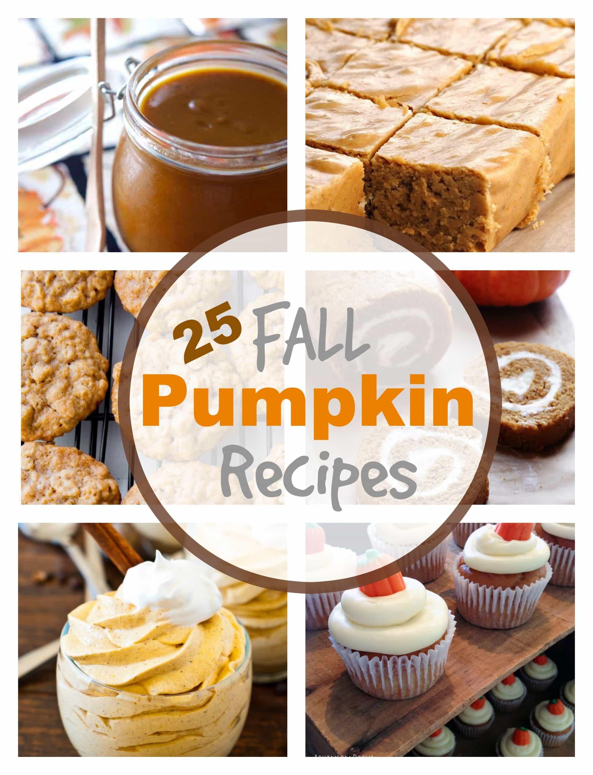 Fall Pumpkin Recipes  25 Fall Pumpkin Recipes PinkWhen