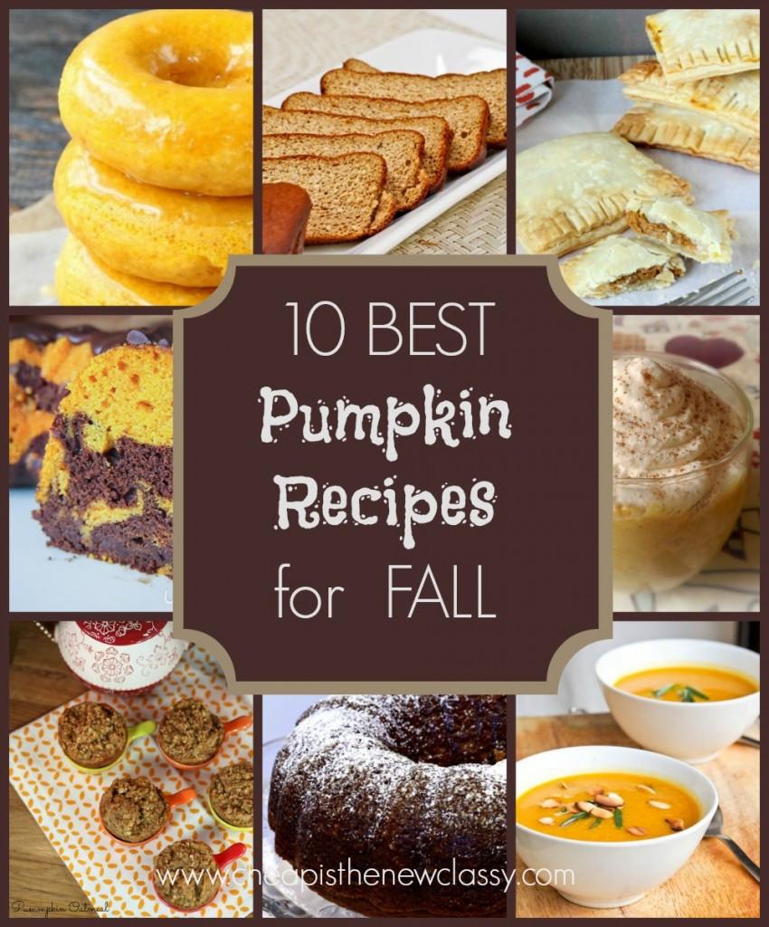 Fall Pumpkin Recipes  10 The Best Fall Pumpkin Recipes