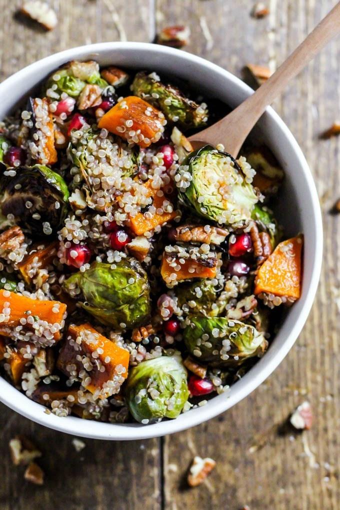 Fall Quinoa Recipe  Fall Brussels Sprouts Quinoa Salad