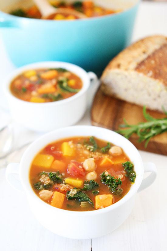 Fall Quinoa Recipe  Fall Ve able Quinoa Soup Recipe