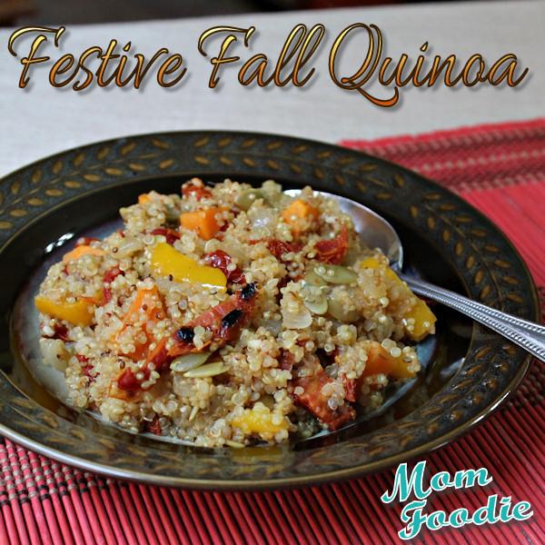 Fall Quinoa Recipe  Quinoa Recipe with Sweet Potato Pepper Sun Dried Tomato