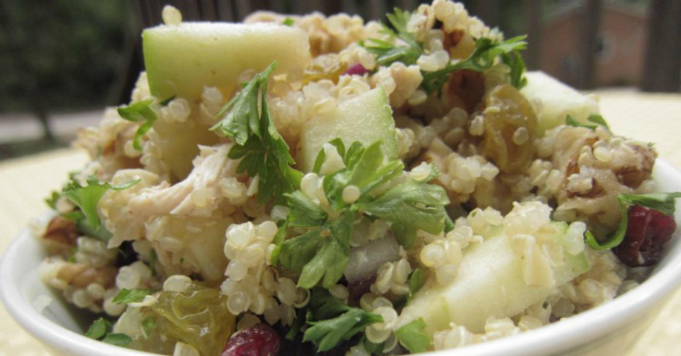 Fall Quinoa Recipe  Fall Flavors Quinoa Salad Lunch Version