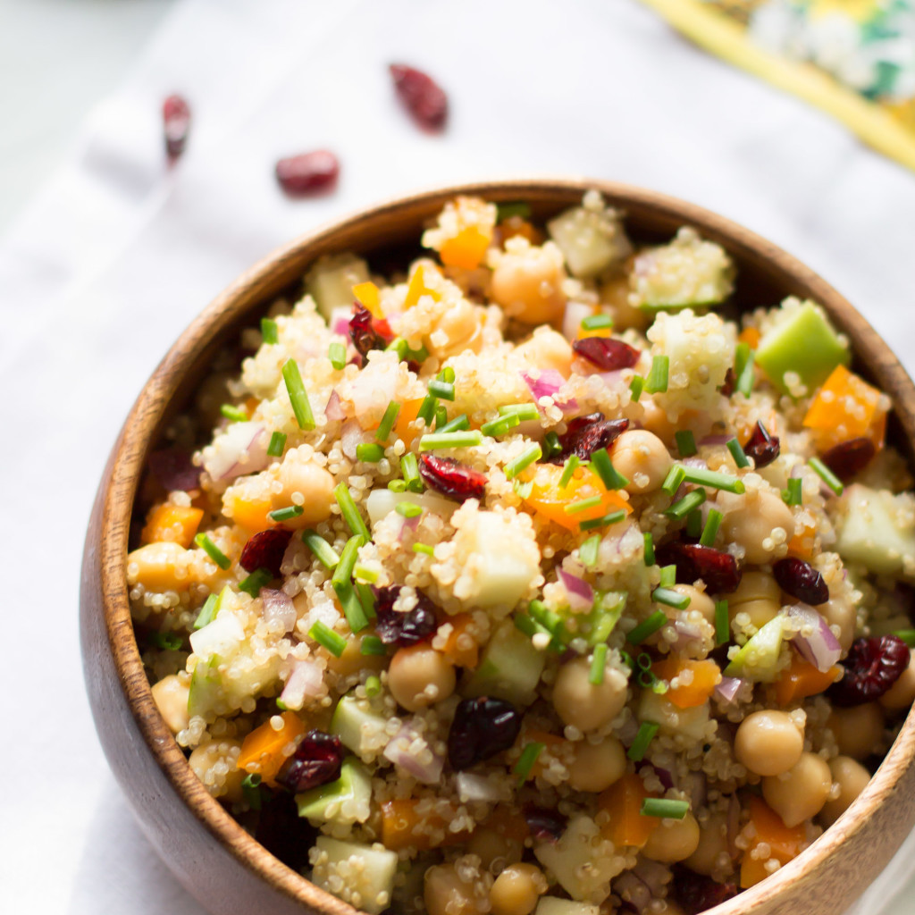Fall Quinoa Recipes  Cranberry Apple Quinoa Salad Primavera Kitchen
