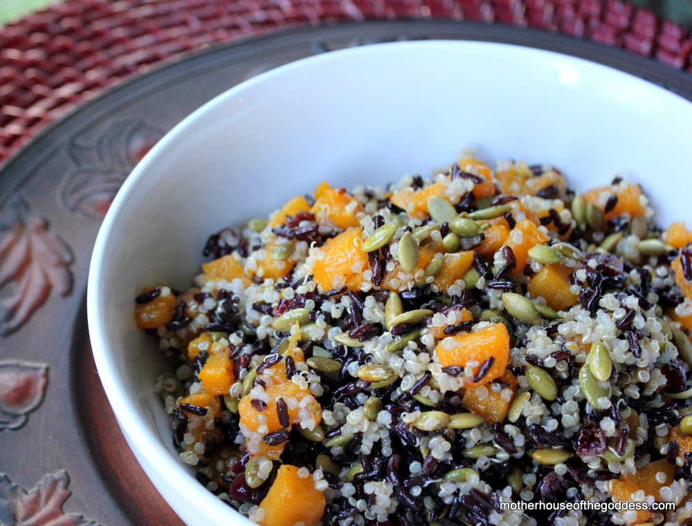 Fall Quinoa Recipes  Fall Quinoa & Black Rice Salad with Butternut Squash and