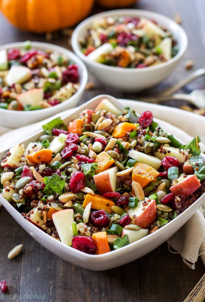 Fall Quinoa Recipes  Harvest Quinoa Salad Recipe Runner