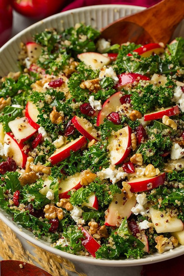 Fall Quinoa Recipes  Kale Salad with Apples and Quinoa Cooking Classy