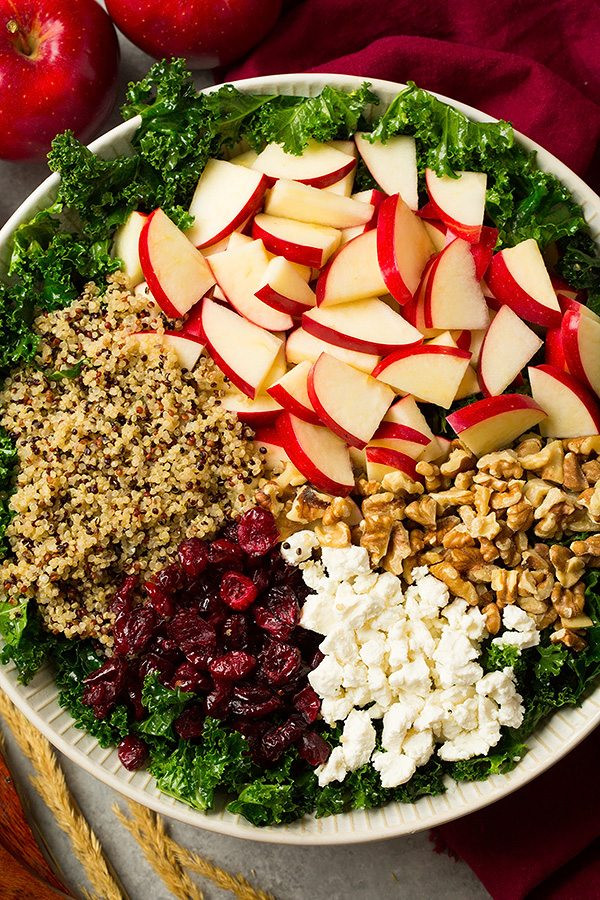 Fall Quinoa Recipes  Autumn Kale Apple and Quinoa Salad Cooking Classy